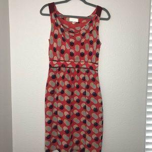 Anthropologie Moulinette Souers silk dress